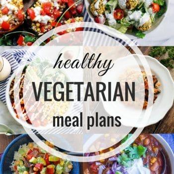 Healthy Vegetarian Meal Plan – Week 105
