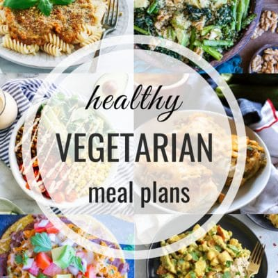 Healthy Vegetarian Meal Plan – Week 110