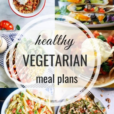Healthy Vegetarian Meal Plan – Week 111