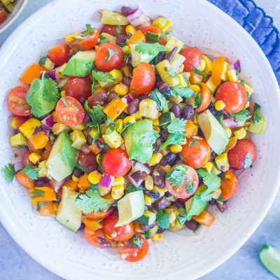 Loaded Summer Vegetable Salad with Black Beans