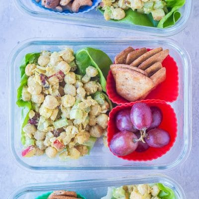 Curried Chickpea Salad Meal Prep Bowls