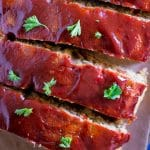 Pinterest text pin for Easy Vegan Meatloaf with Lentils and Chickpeas