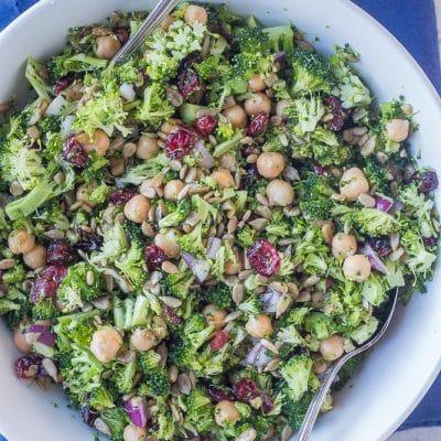 Crunchy Broccoli Salad with Maple Mustard Dressing