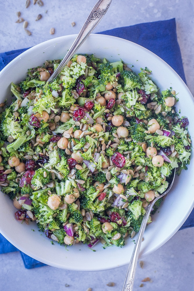 Crunchy Broccoli Salad With Maple Mustard Dressing She Likes Food