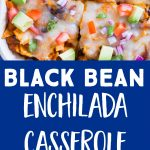 Pinterest long pin for Black Bean Enchilada Casserole with Butternut Squash