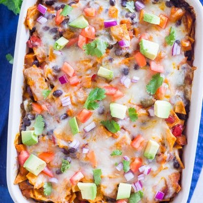 Black Bean Enchilada Casserole with Butternut Squash