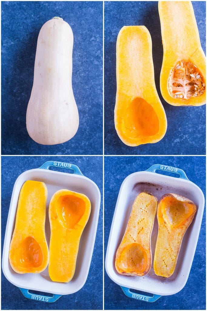 Step by step photos on exactly how to make a whole roasted butternut squash - How to Roast Butternut Squash