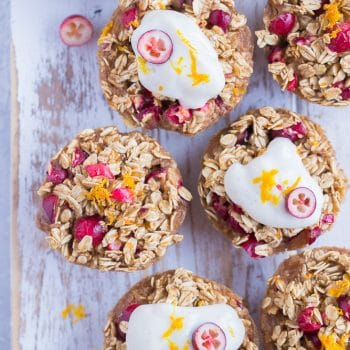 Orange Cranberry Baked Oatmeal Cups