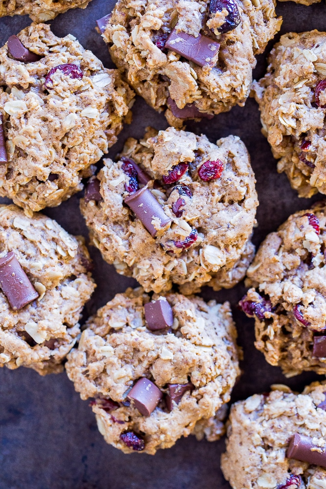 Tray full of Healthier Oatmeal Cookies