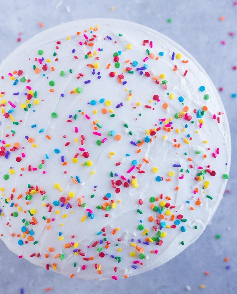 Decorated Best Gluten Free White Cake