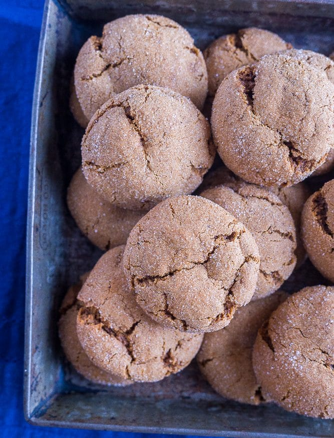 Vegan Soft and Chewy Molasses Cookies