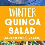 Pinterest long pin for Winter Quinoa Salad