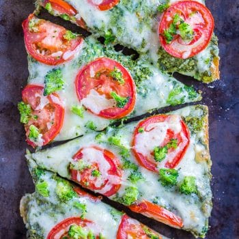 30 Minute Vegetarian French Bread Pizzas with Pesto