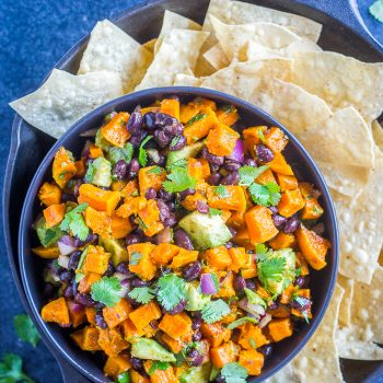 Roasted Butternut Squash Salad with Black Beans