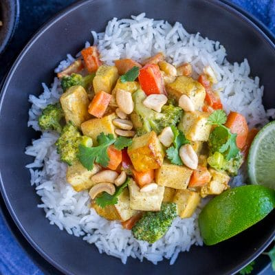 Easy Coconut Curry with Tofu {30 Minutes, One Pan}