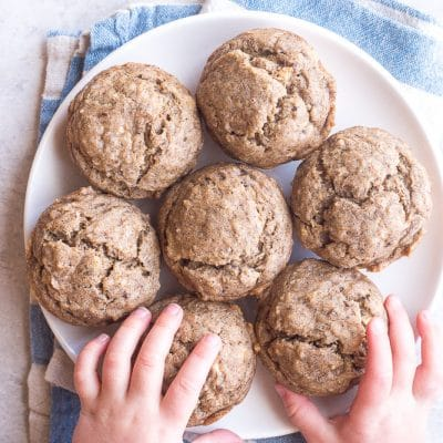 Healthy Banana Muffins {No Added Sugar, One Bowl}