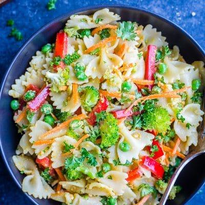 Primavera Pasta Salad {Vegan}