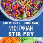 Pinterest collage pin for Vegetarian Stir Fry Recipe