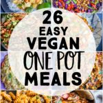 Pinterest long pin for Easy Vegan One Pot Dinners