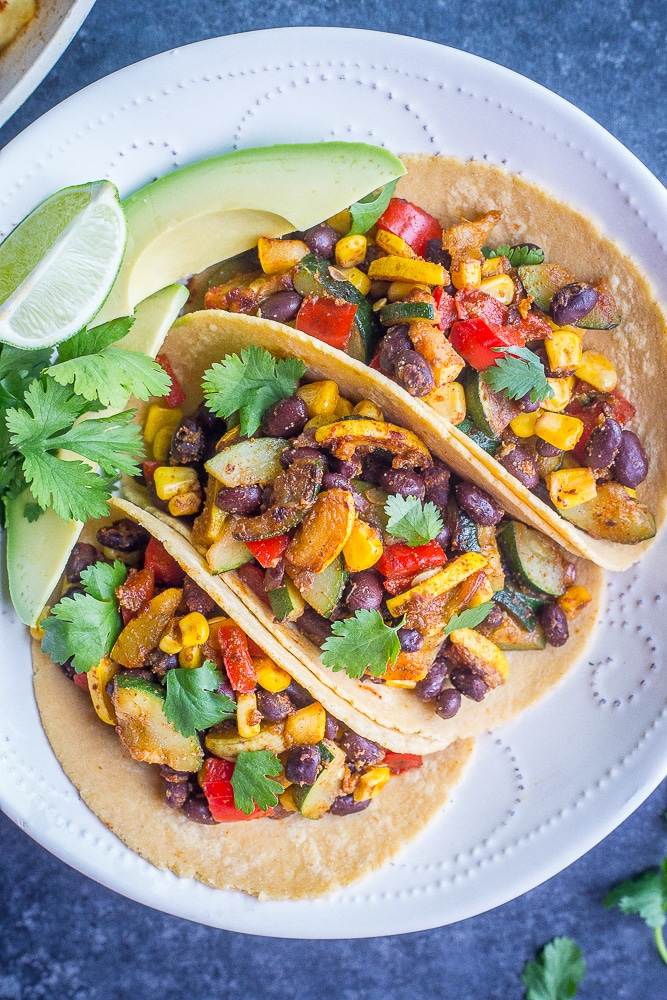 Vegan Black Bean Tacos With Summer Vegetables She Likes Food