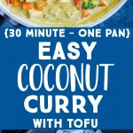 Pinterest collage pin for Easy Coconut Curry