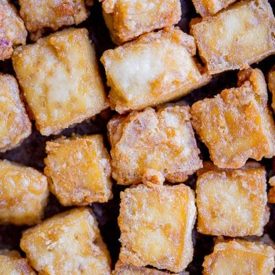 The BEST Crispy Tofu {Baked}