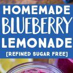 Pinterest collage pin for Homemade Blueberry Lemonade
