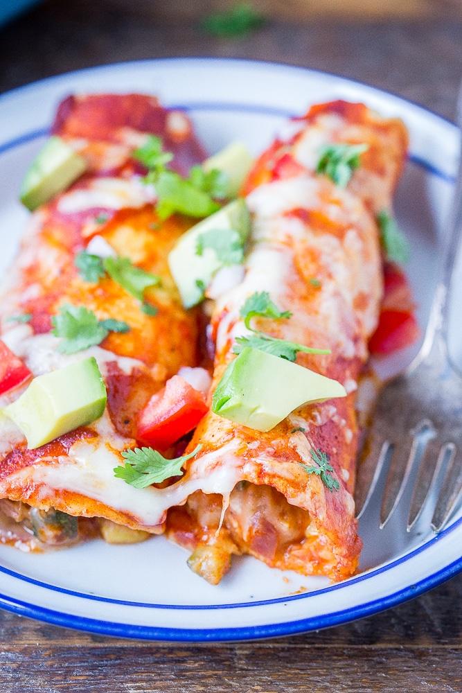 The Best Vegetarian Enchiladas She Likes Food