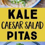 kale Caesar salad pita Pinterest long pin