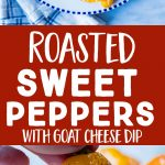 Pinterest collage pin for roasted sweet peppers