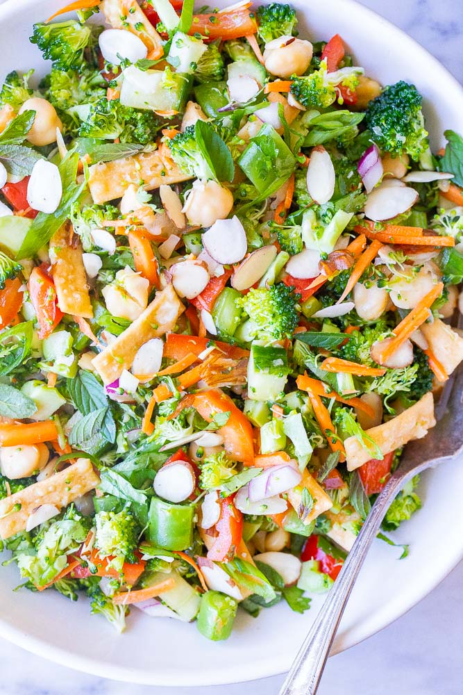close up photo of broccoli salad