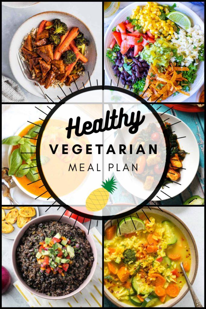 Healthy vegetarian meal plan week 37 pinterest graphic