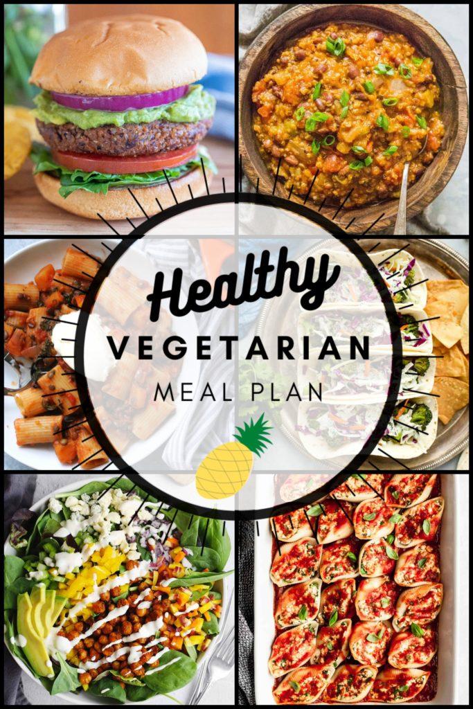 healthy vegetarian meal plan week 39 collage graphic